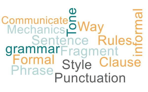 Many words related to grammar